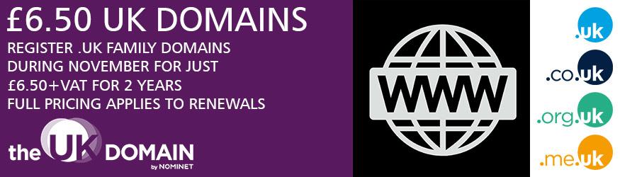 UK Domain Promo November 2019